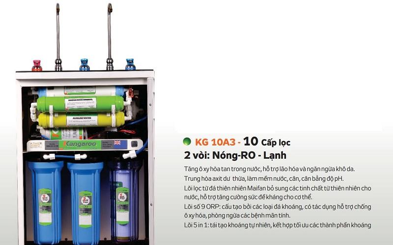 Máy lọc nước nóng lạnh Kangaroo KG10A3