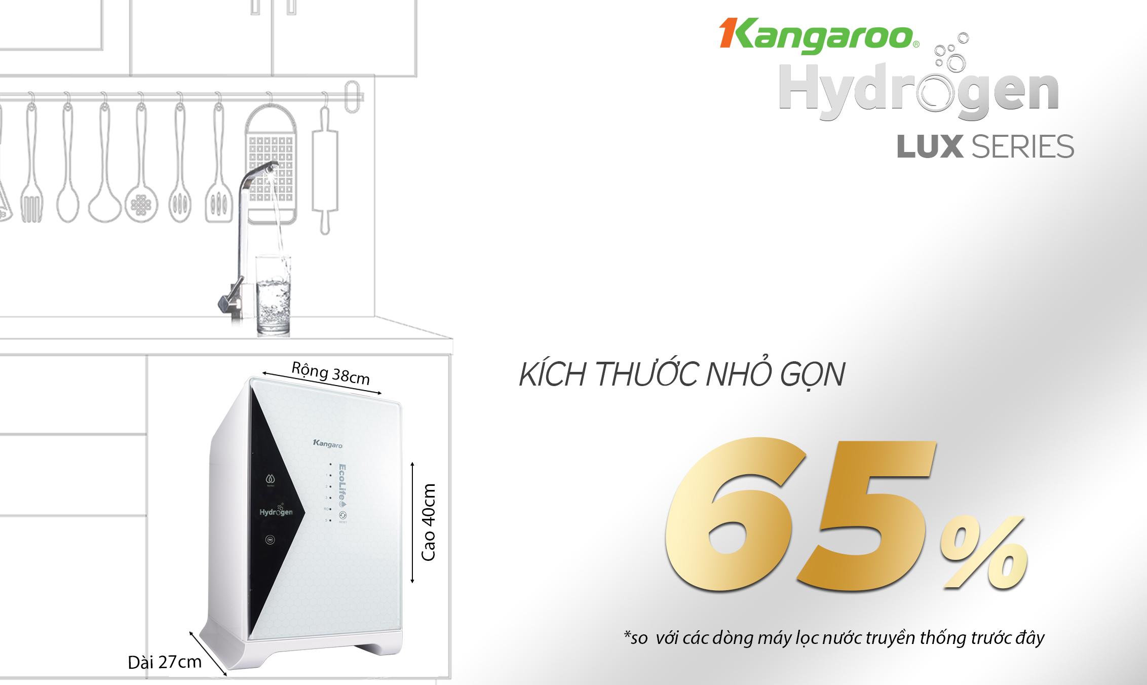 thiết kế siêu nhỏ của kangaroo kg100hu